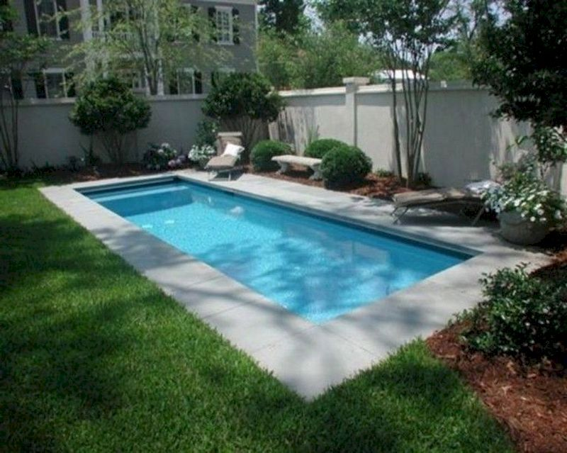 78 Cozy Swimming Pool Garden Design Ideas On A Budget Decorhit Com Small Pool Design Small Backyard Pools Backyard Pool Landscaping