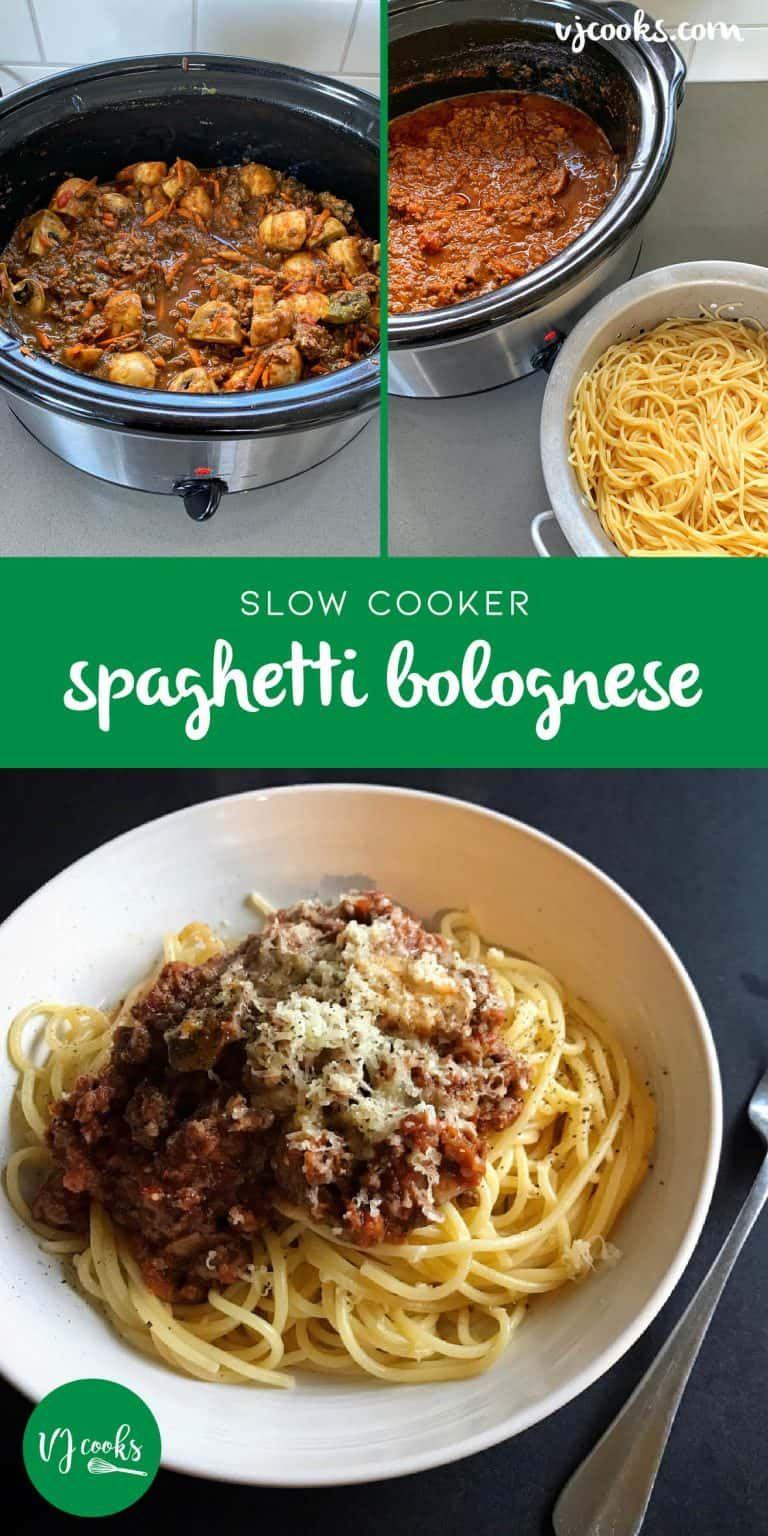 Slow Cooker Spaghetti Bolognese Vj Cooks Recipe Slow Cooker Spaghetti Ground Beef Recipes Easy Cooks Slow Cooker