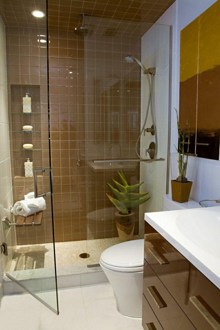 badefliesen braun kleines bad ideen pflanze dusche. Black Bedroom Furniture Sets. Home Design Ideas