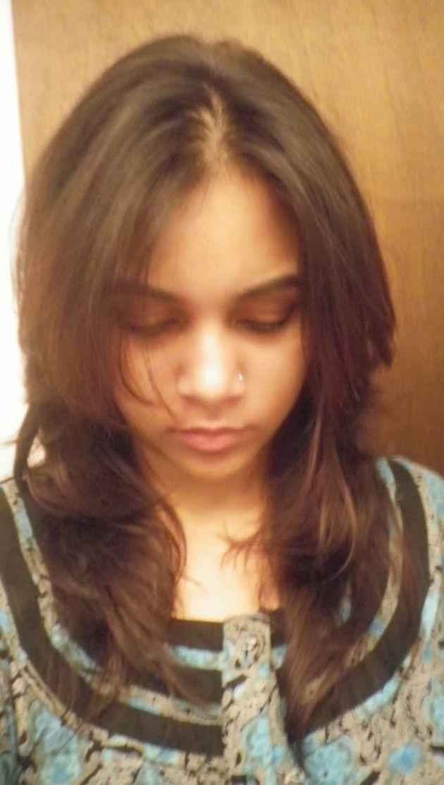 V shaped haircut front