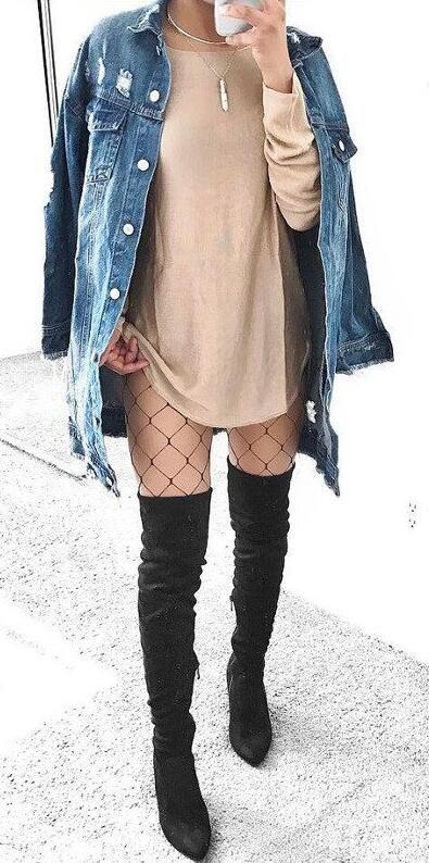 aca535b6e24869 Street Chic Grunge Looks Sexy Fishnet Tights Jeans-mate Leggings Socks Mesh  Pantyhose