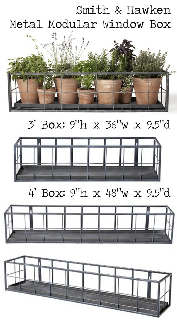 shop really want it smith hawken premium quality metal modular window box 99 119. Black Bedroom Furniture Sets. Home Design Ideas