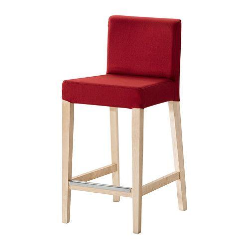 HENRIKSDAL Taburete bar IKEA Al estar acolchado, el asiento resulta ...