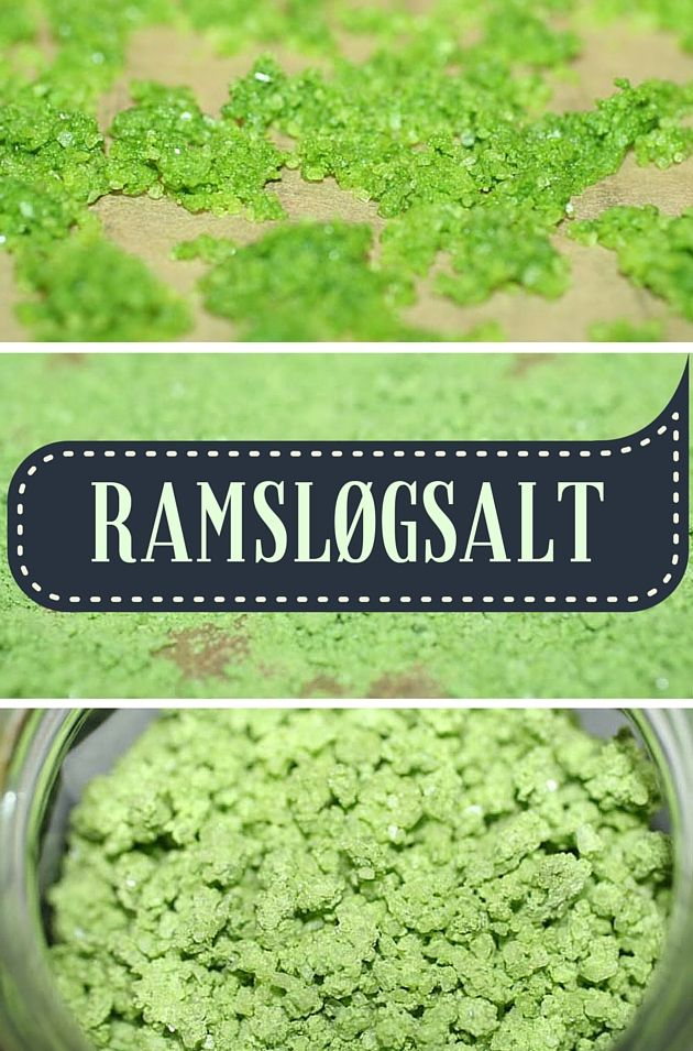 Ramsløgsæsonen er over os, og du kan bruge de grønne blade til dette utroligt nemme og smukke ramsløgsalt.