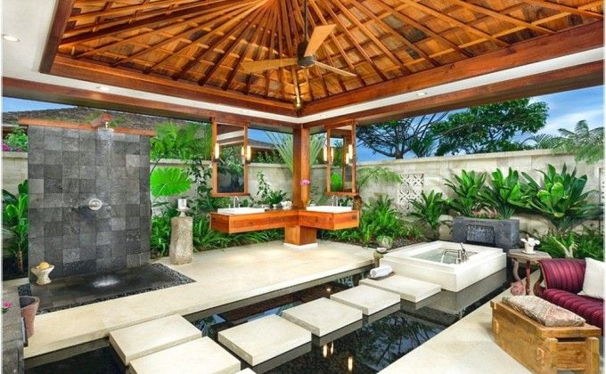 Stunning Tropical Bathroom In How To Make A Home Spa Trends Luxury From Your Bathrooms