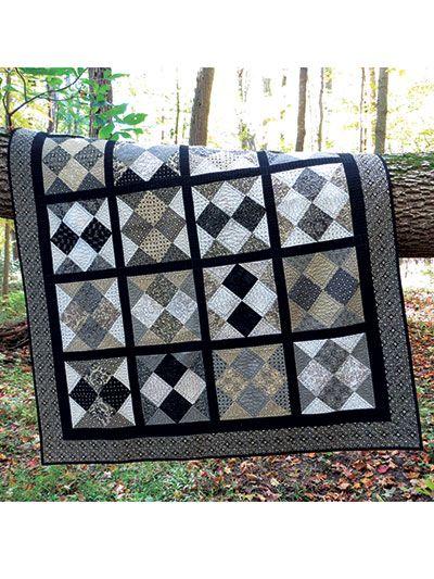 Shuffle Quilt Pattern   Quilting - Quilts for men   Pinterest ... : quilt patterns for men - Adamdwight.com