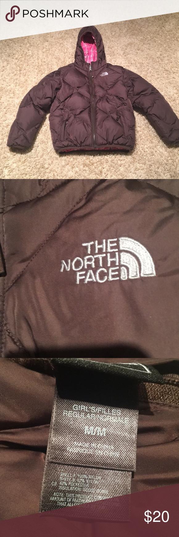 North Face 550 Girls Reversible Coat Reversible Coat Brown Puffer The North Face [ 1740 x 580 Pixel ]