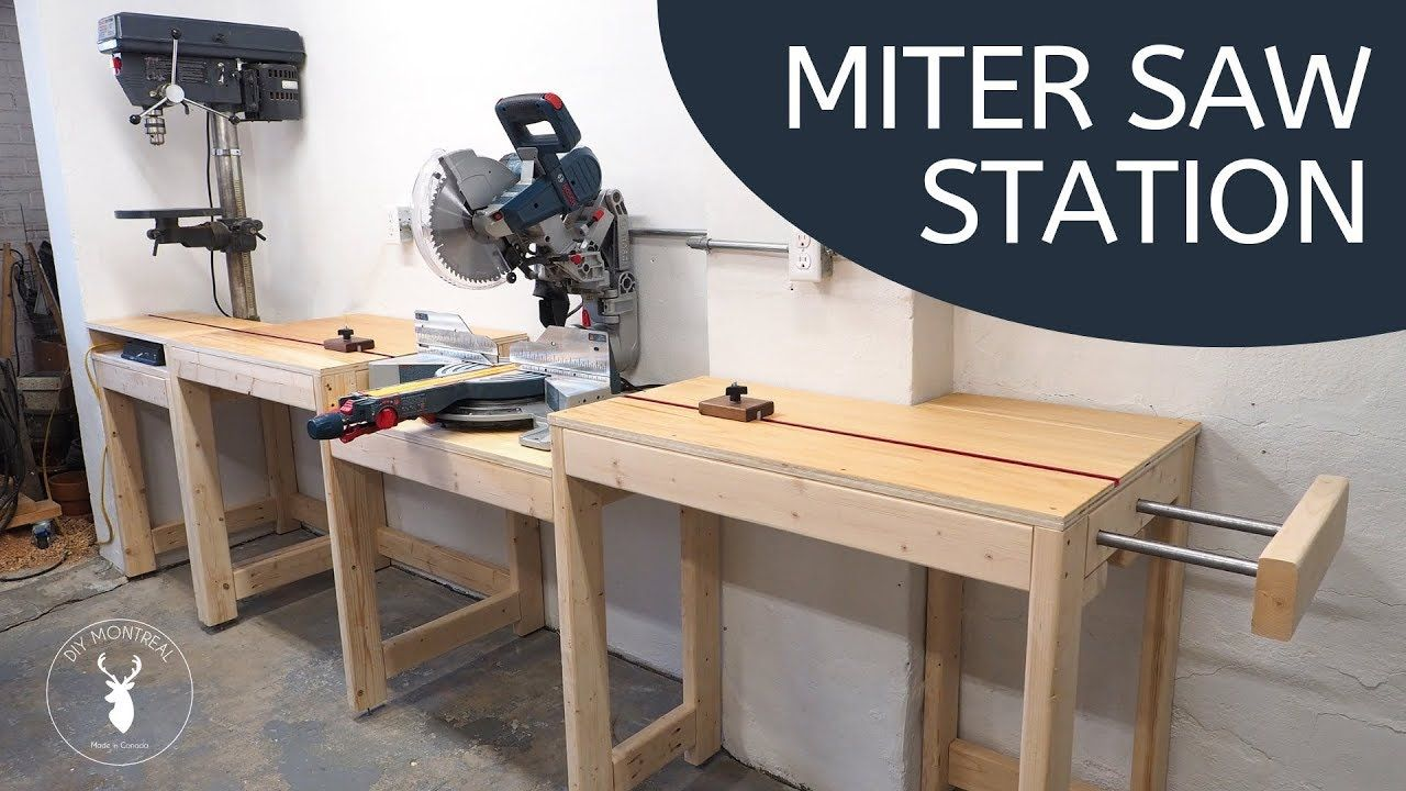 Build a miter saw station with integrated stop blocks (