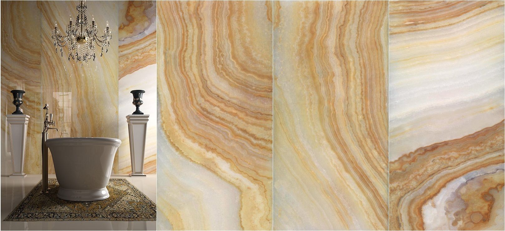 PRECIOUS STONE Collection - Yellow Onix A, B & C by GranitiFiandre ...