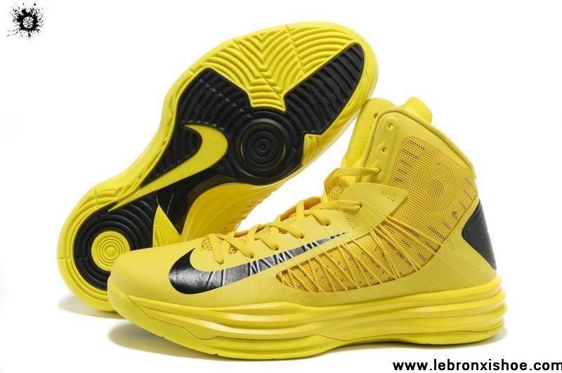 Buy Discount Nike Lunar Hyperdunk 2013 Basketball Shoes Yellow Black for Men Fashion Shoes Shop