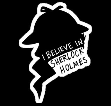 Believe In Sherlock Profile Sticker By Maskedfangirl Sherlock Printable Stickers Print Stickers