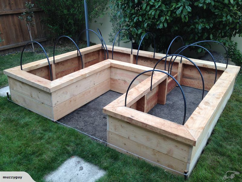 Macrocarpa Raised Garden Bed U Shaped Trade Me Garden Beds