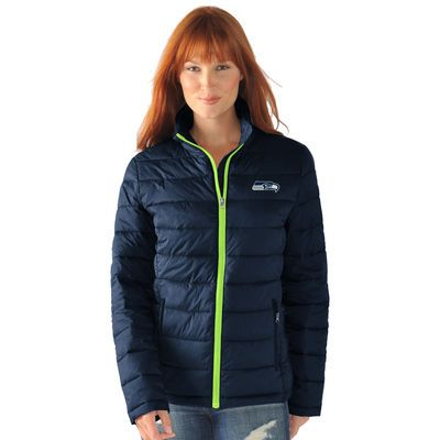 Women's G-III 4Her by Carl Banks College Navy Seattle Seahawks Packable Polyfill Jacket