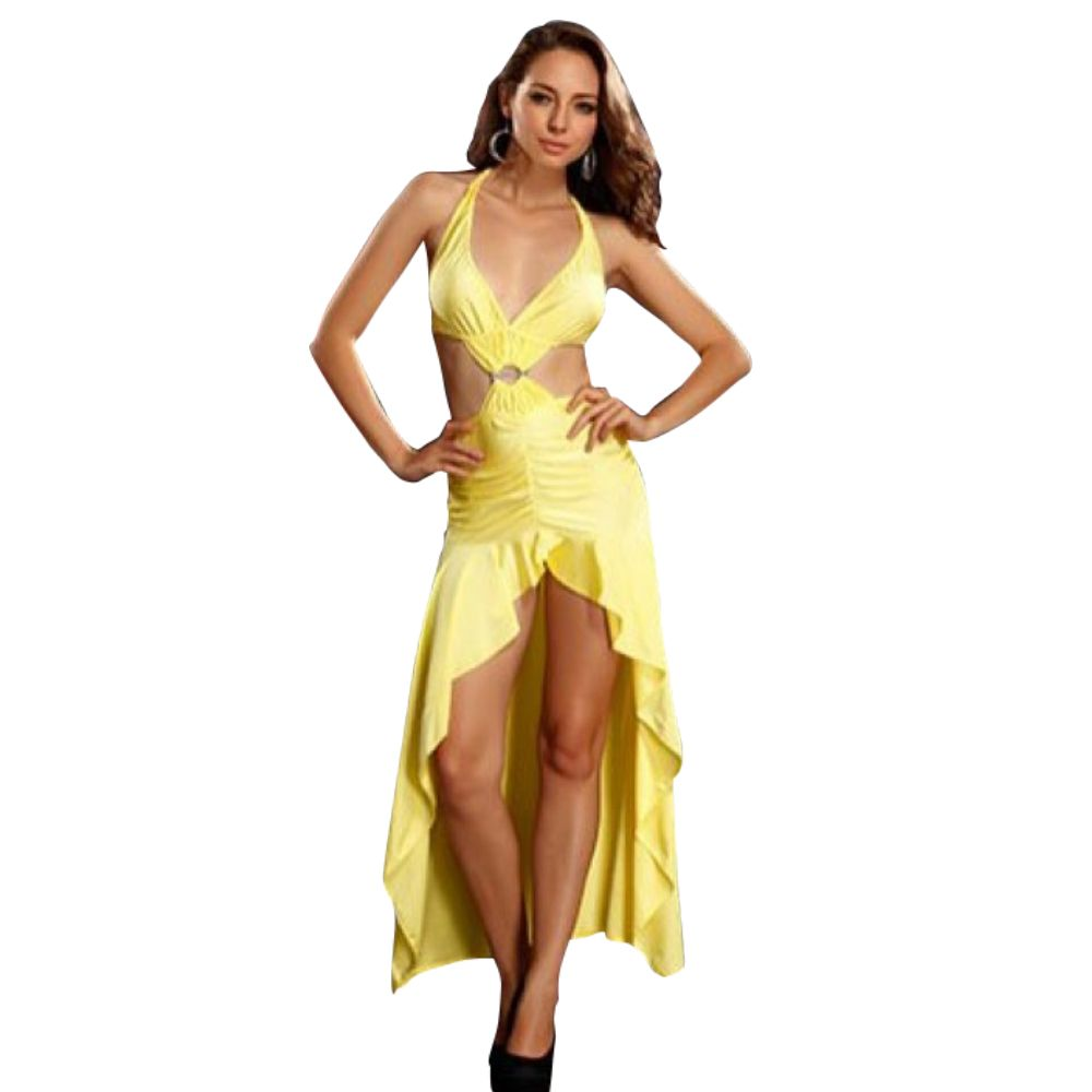 Open front and back halter long dress long dress with open front and