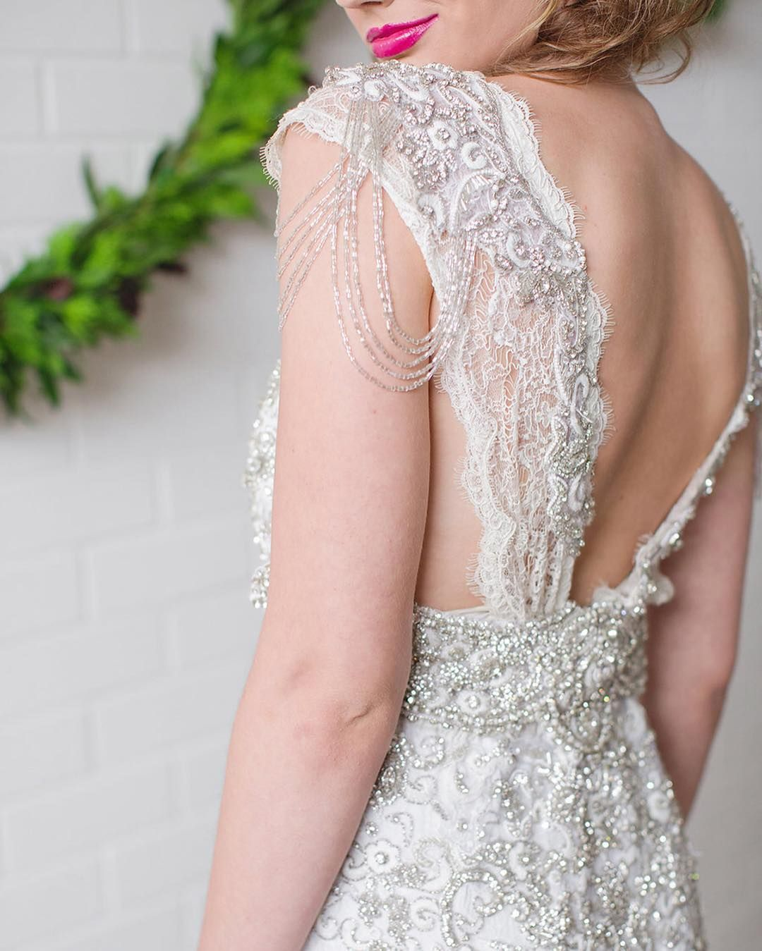 This jewel-drenched #weddinggown! More from our #ValentinesDay ...