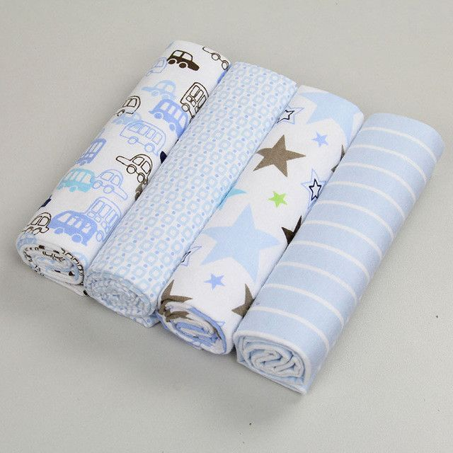 0dfa5b2f50a3 NEW color 4pcs pack 100%cotton flannel baby blanket receiving ...