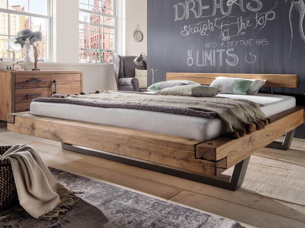 Balkenbett Massiv Stahlkufen Vier Grossen Pickupmobel De Betten