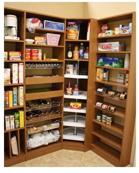 Kitchen Pantry Storage Systems Pantry Organization lazy susans