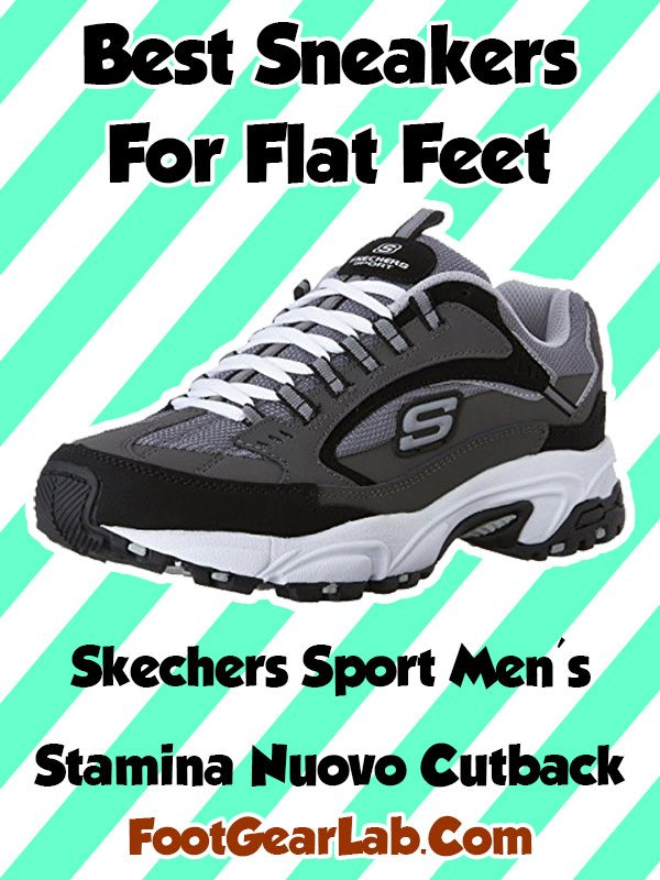 bfa52075336 Skechers Sport Men s Stamina Nuovo Cutback - Best Sneakers For Flat Feet  Men -  footgearlab