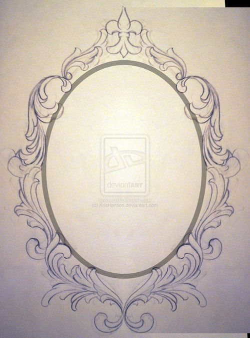 oval frame tattoo design. Drawing Oval Frame - Google Search Tattoo Design Pinterest