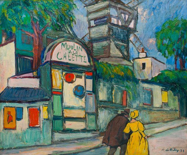 Le+Moulin+de+la+Galette,+Musée+de+Montmartre.jpg (640×530) | Schilderij