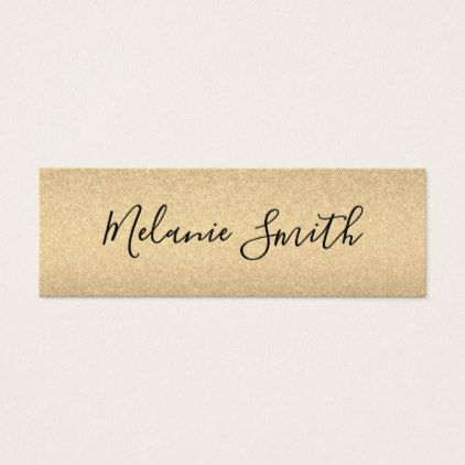 Simple Glamour Mini Business Card - chic design idea diy elegant beautiful stylish modern exclusive trendy