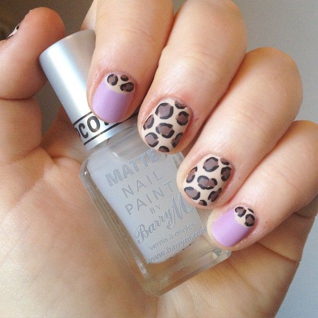 nnmnails on Instagram: pastel purple and nude matte animal leopard ...