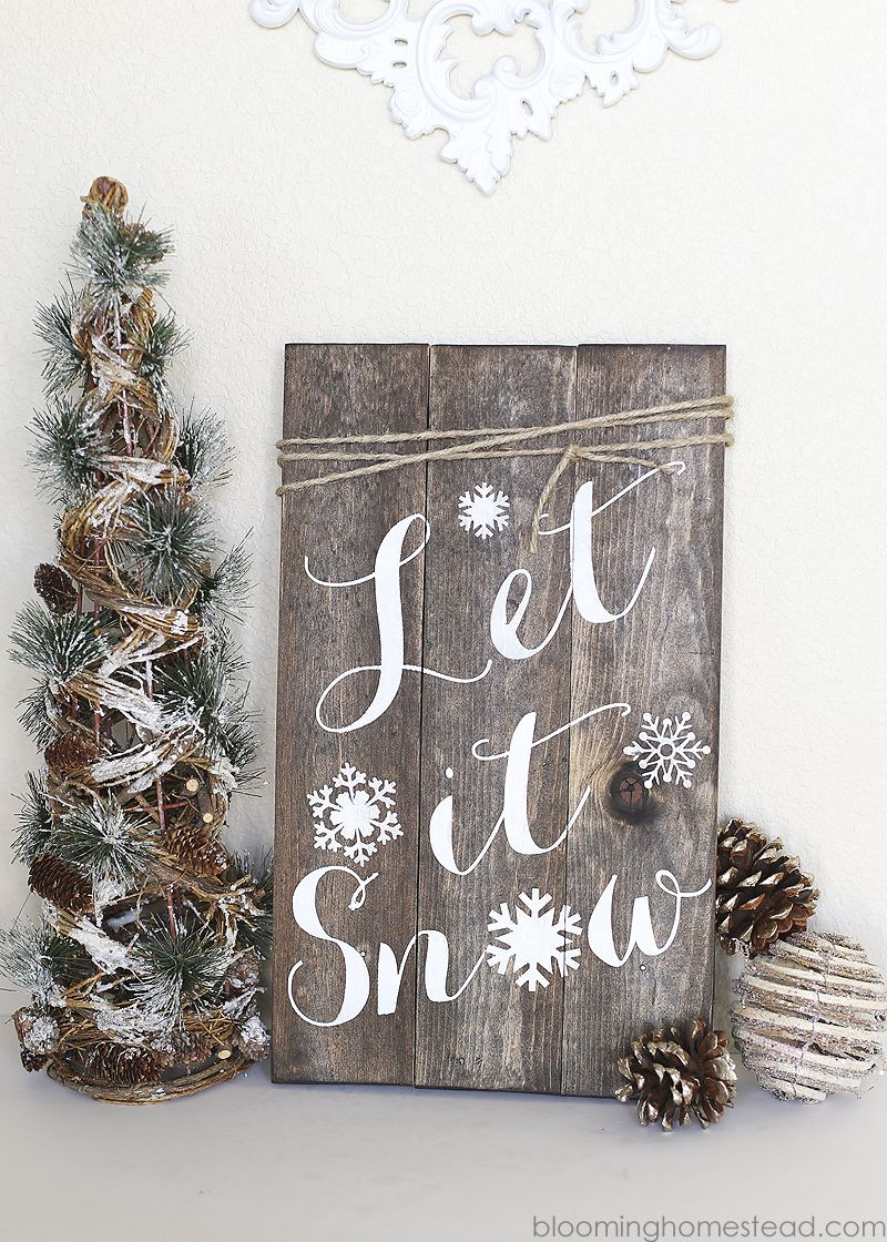 Diy Winter Woodland Sign Pallet Signs Pinterest Christmas
