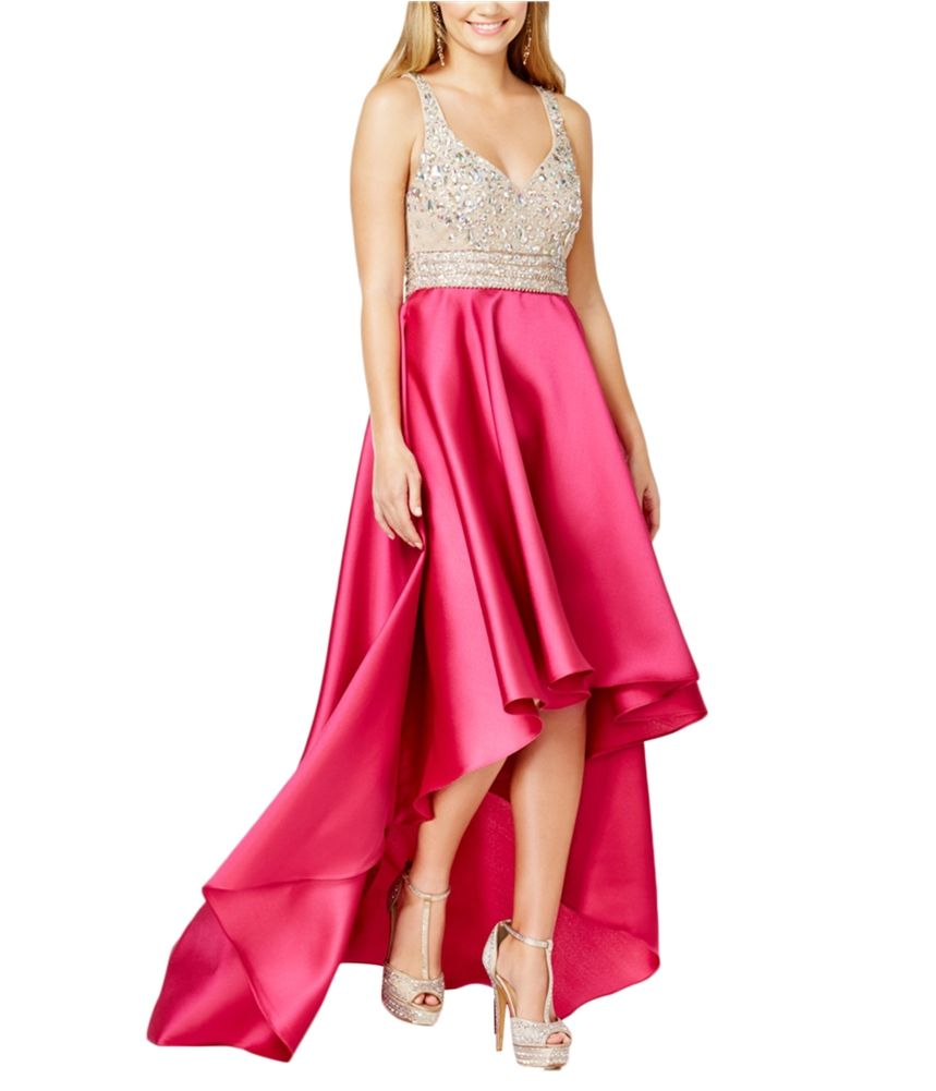 Say Yes To The Prom Say Yes To The Prom Womens Embellished High Low Dress Walmart Com Stylish Prom Dress Cheap Short Prom Dresses High Low Gown [ 1001 x 859 Pixel ]