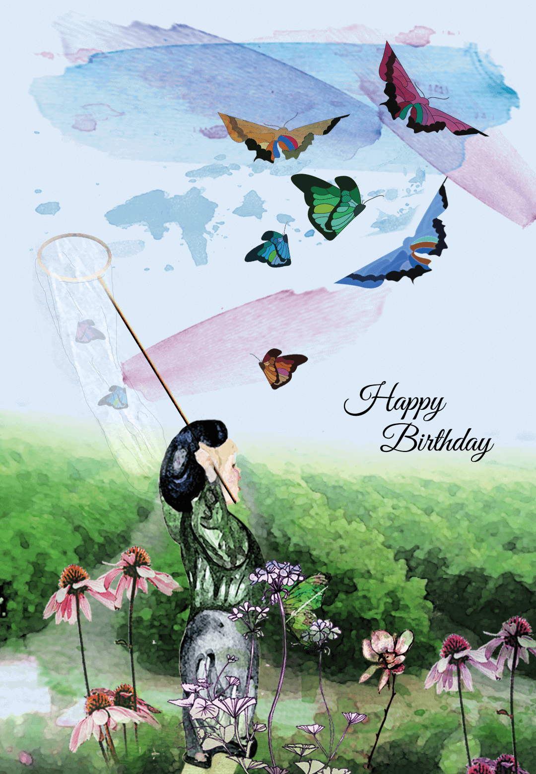 Butterfly Ballet - Free Printable Birthday Card | Greetings Island ...