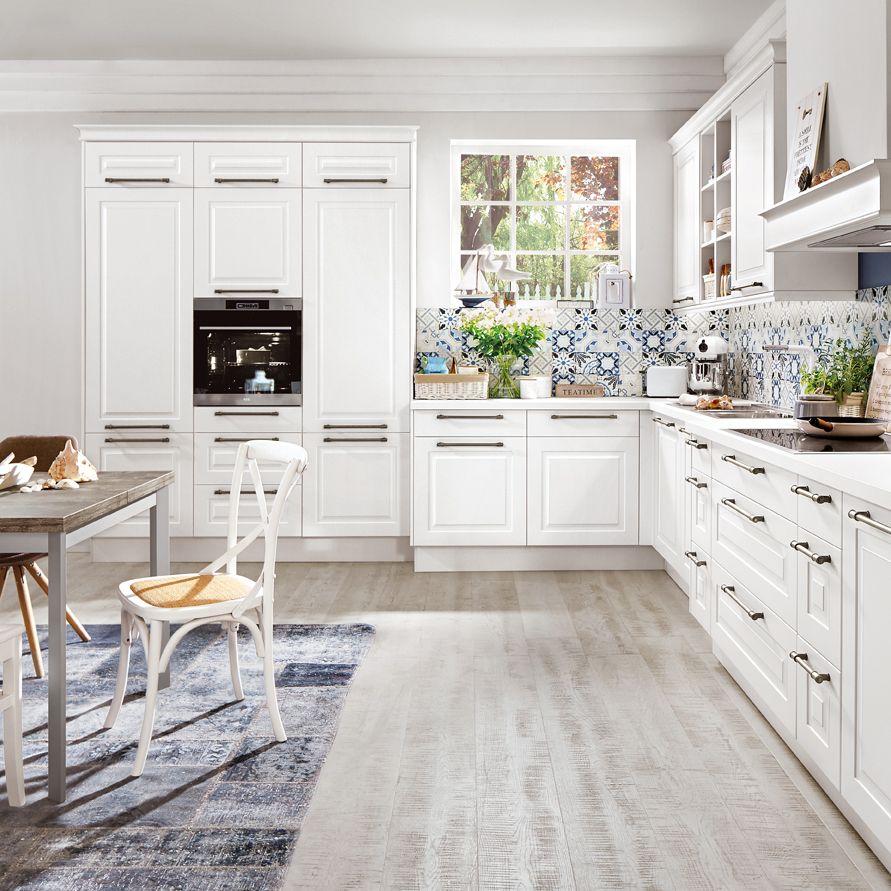 helle Küche , weiß in 2019 Kitchen, Kitchen Decor