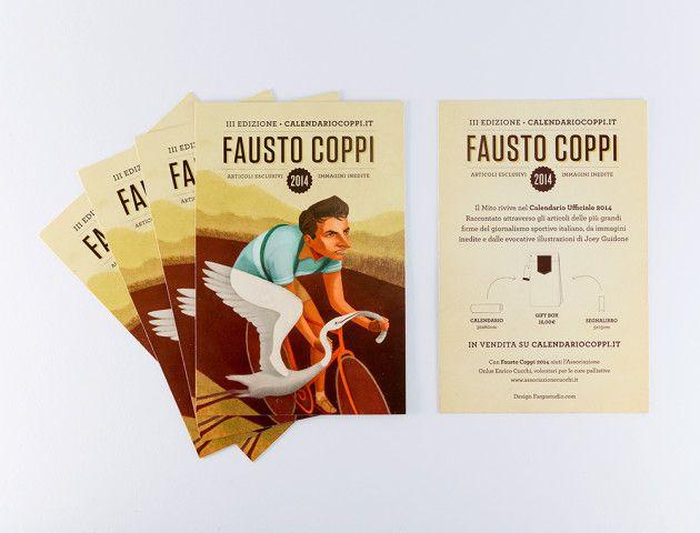 Calendario Coppi 2014 - un campione, un calendario, un'associazione benefica, un giovane illustratore