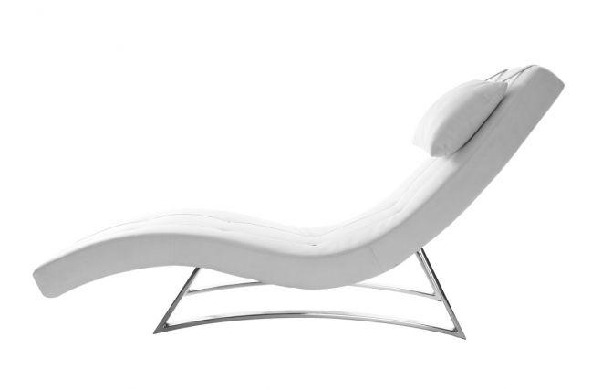 Chaise Longue Design Blanc Monaco Miliboo Chaise Longue Design Chaise Longue Chaise
