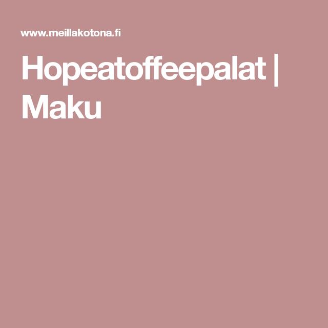 Hopeatoffeepalat | Maku