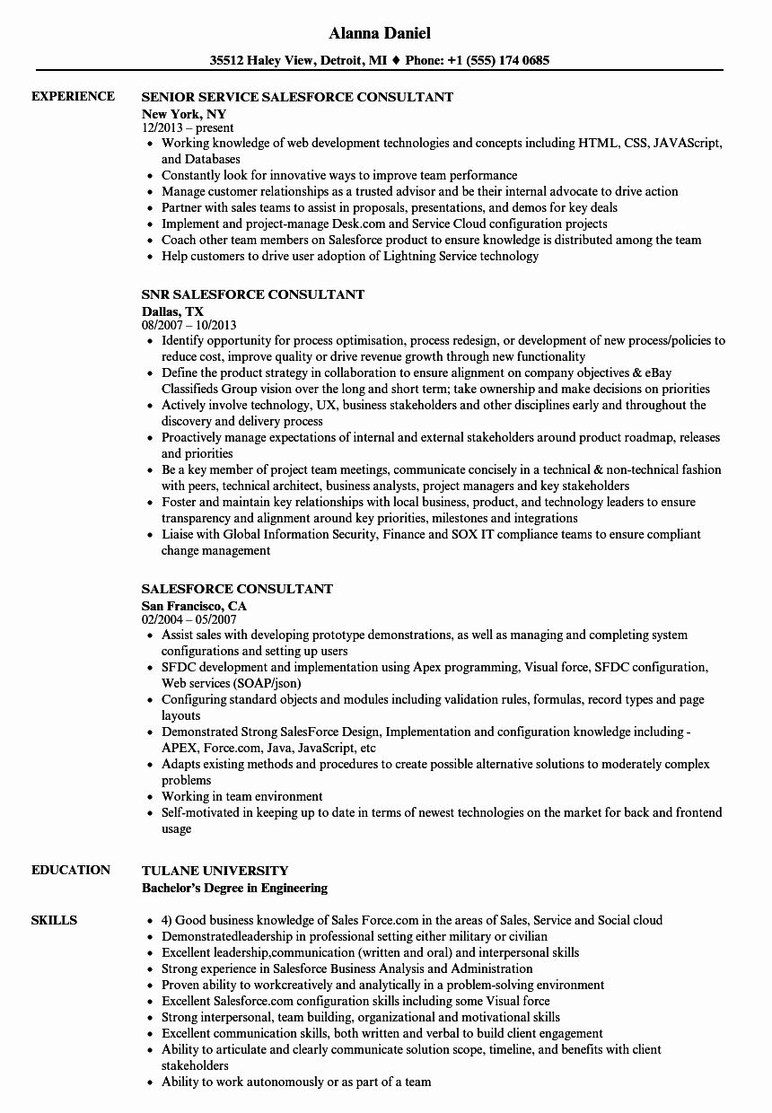 23 Salesforce Administrator Resume Examples in 2020