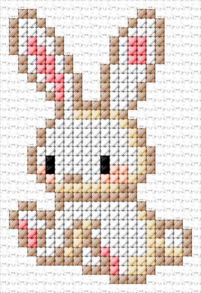 Photo of https://www.cross-stitch-pattern.net:  Bunny 54|3816