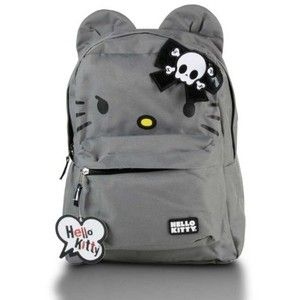 Amazon.com  Loungefly Hello Kitty Angry Backpack w  Kitty Ears and Skull Bow 6dc892846a494