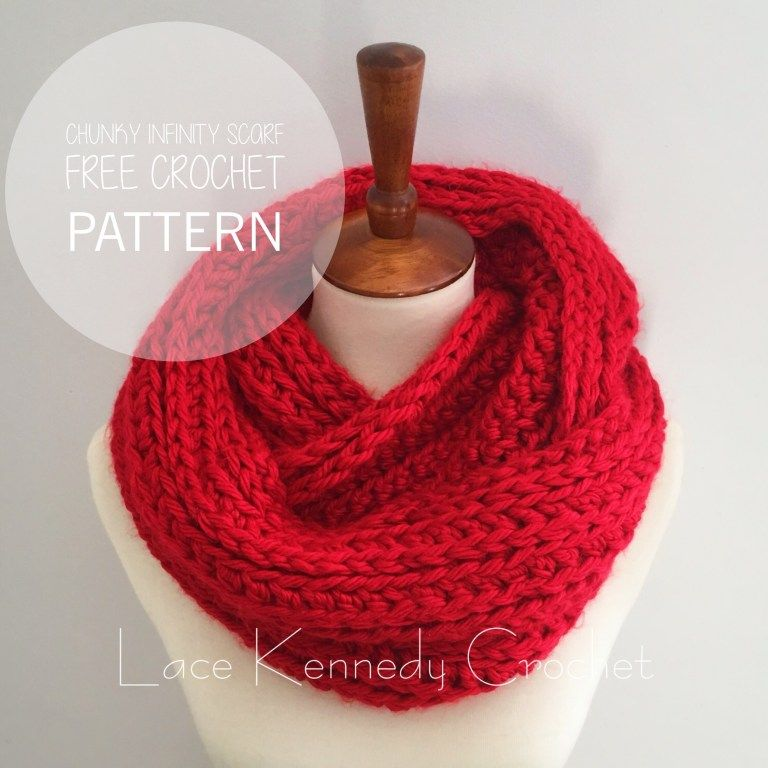 Chunky Ribbed Infinity Scarf Pattern | Infinity scarf ...