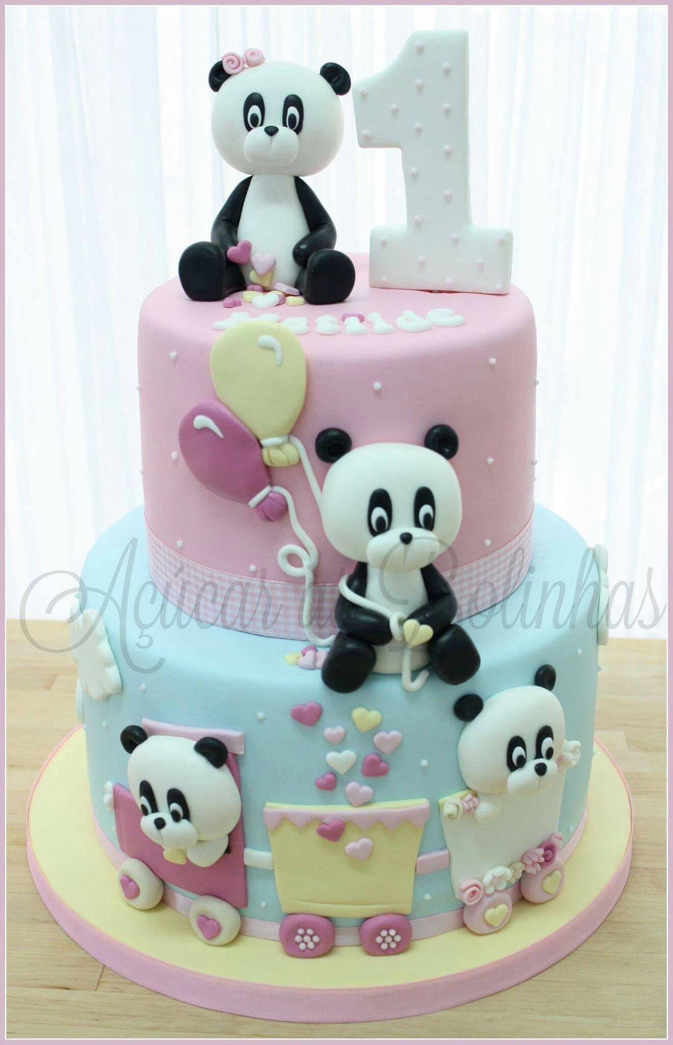 Birthday Cake Panda Cakes 1st Birthday Cakes Girl Cakes
