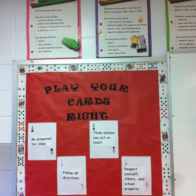 rules bulletin board play your cards right  board game