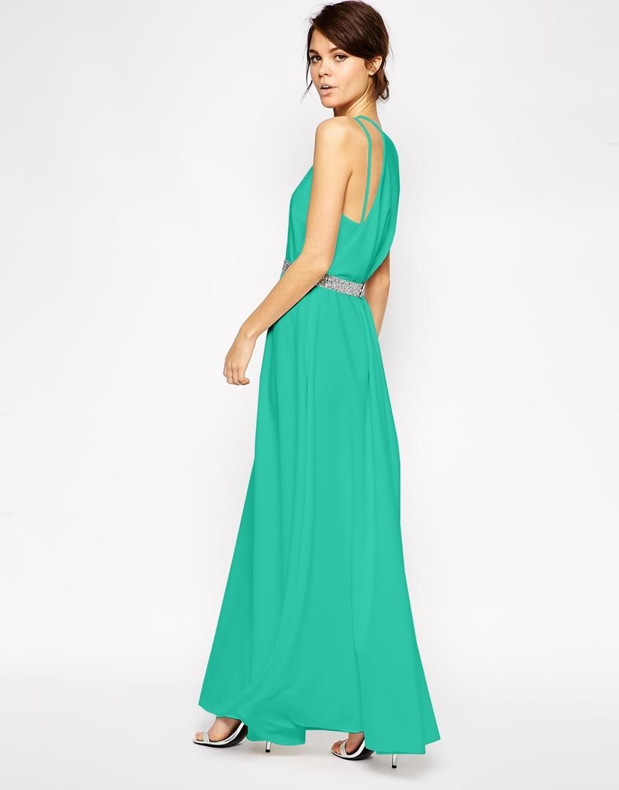 ASOS | ASOS Drape Back Maxi Dress With Belt at ASOS | Clothes ...