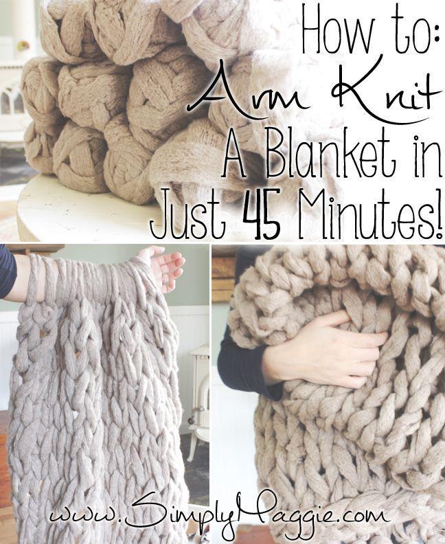 Arm Knit a Blanket | tejido | Tejidos, Mantas y Croché