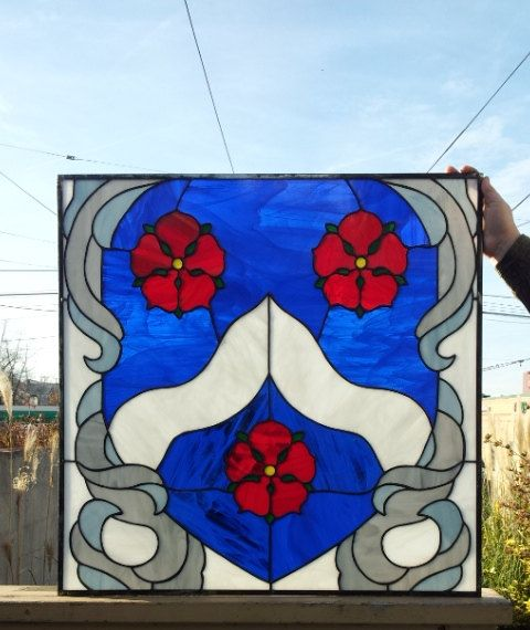 Stained Glass Panel Family Crest P33 By Terrazastainedglass