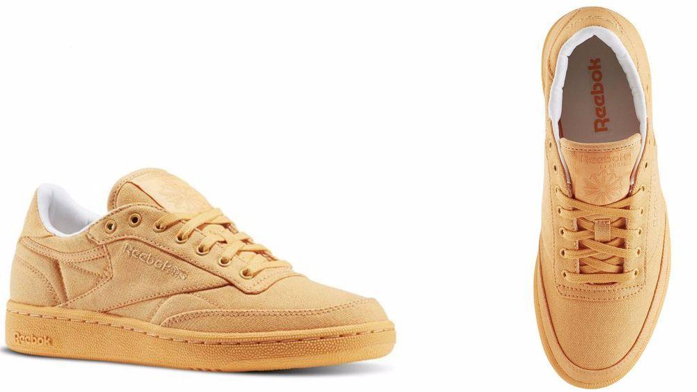 reebok x uo club c sneaker. womens\u0027 reebok club c 85 canvas sunwash / classic white bd2842 # x uo club sneaker