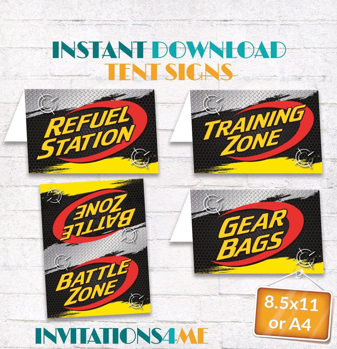 Nerf Tent Party Signs Nerf Birthday Posters Training Zone - Battle Zone - Gear Bags - Refuel Station Decorations INSTANT DIGITAL DOWNLOAD  sc 1 st  Pinterest & Nerf Tent Party Signs Nerf Birthday Posters Training Zone - Battle ...