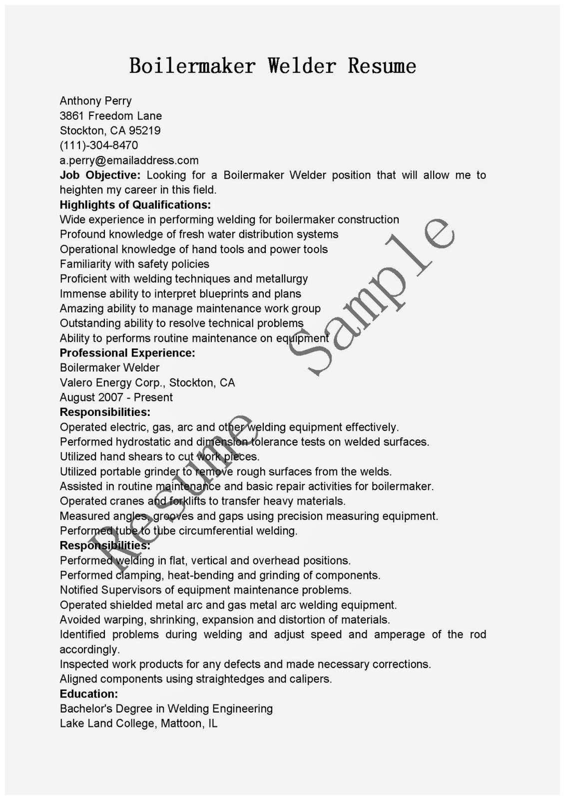 Welder Fabricator Resume Sample Awesome 63 Lovely Figure Welder Resume Objective Job Resume Examples Resume Resume Examples