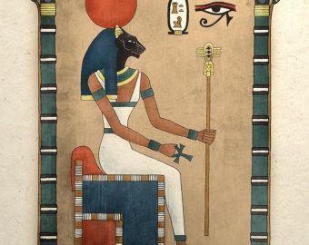 11 X 14 Pulgadas Impresion Del Arte De Anubis Antiguo Dios