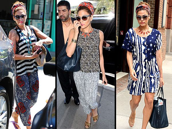 Eva Mendes Is Having a Major Mixed-Prints Moment http://stylenews.peoplestylewatch.com/2013/07/11/eva-mendes-street-style/