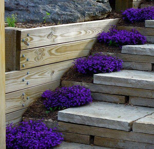 Ordentlich HOLZ gartentreppe selber bauen und mit blumen dekorieren | Garten  UK83
