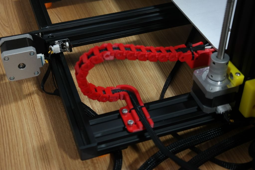 Creality Cr 10s Y Axis Cable Drag Chain And Strain Relief By Zep To 3d Druck Thingiverse 3d Printing 3d Printer Chain